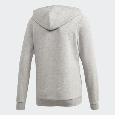 Girls Athletics Grey Linear Hoodie
