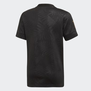 Kinder Y-3 All Blacks Rugby World Cup Y-3 Heimtrikot Schwarz