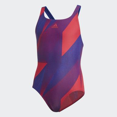 Costume da bagno Girls Graphic Rosa Ragazza Nuoto