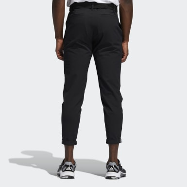 Men's Golf Black Pin Roll Pants