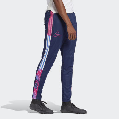 Men Football Blue Human Race Tiro Pants