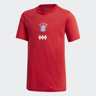 Youth Soccer Red FC Bayern Graphic Tee