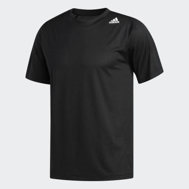 ผู้ชาย โยคะ สีดำ เสื้อยืด FreeLift Sport Fitted 3-Stripes