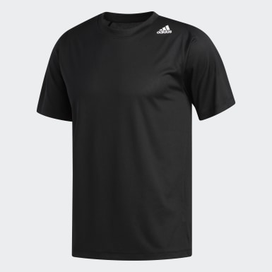 Playera FreeLift Sport Fitted 3-Stripes Negro Hombre Training