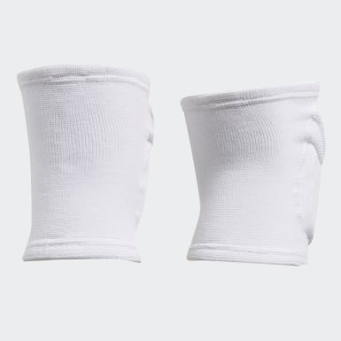 Volleyball White Elite Knee Pads