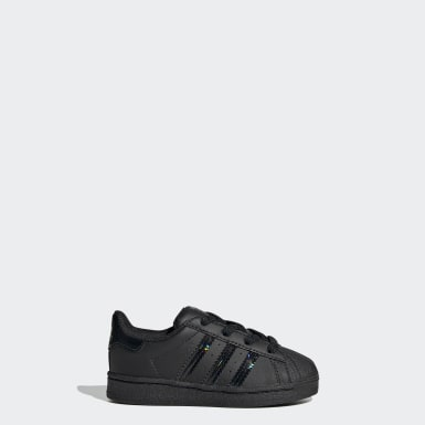Infant & Toddler Originals Black Superstar Shoes