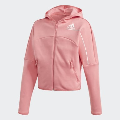 Hoodie adidas Z.N.E. Loose Full-Zip Rosa Ragazza Athletics