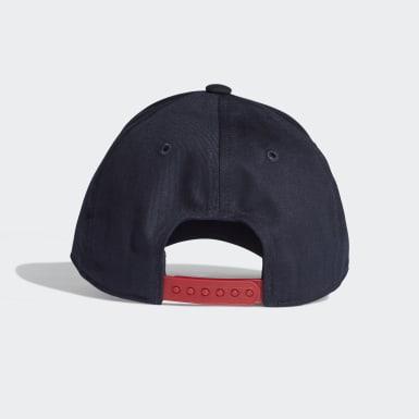 เด็ก เทรนนิง สีน้ำเงิน หมวกแก๊ปพิมพ์ลาย