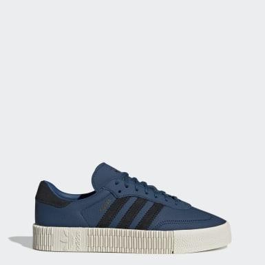 Kvinder Originals Blå SAMBAROSE sko