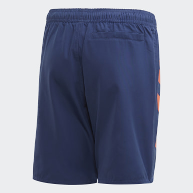 Bold 3-Stripes Swim Shorts Niebieski