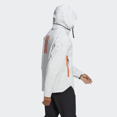 Men Urban Outdoor White MYSHELTER Rain Jacket