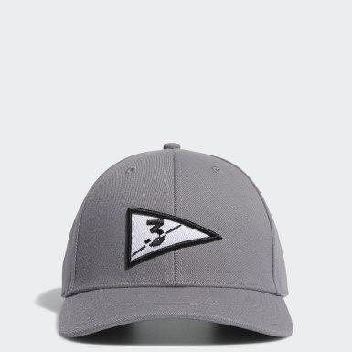 Golf Flag Caps Grå