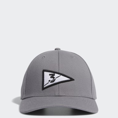 Men Golf Grey Golf Flag Hat