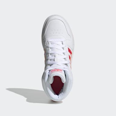 Children Essentials White Hoops 2.0 Mid Shoes
