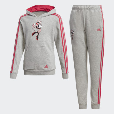 Girls Training Grey Gym Track Suit