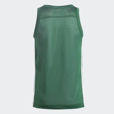 Børn Basketball Grøn 3G Speed Reversible trøje
