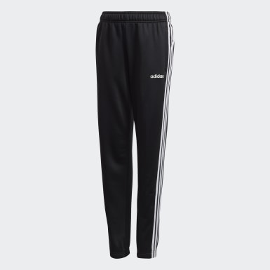 Boys Lifestyle Black 3-Stripes Pants
