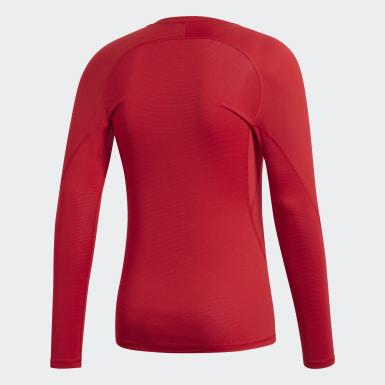 Männer Fußball Alphaskin Sport T-Shirt Rot