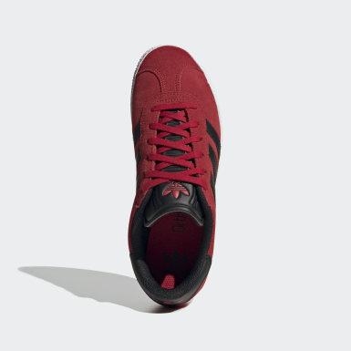 Chaussure Gazelle Rouge Enfants Originals