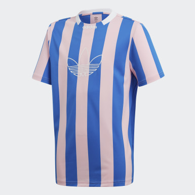 Camiseta Stripes Rosado Niño Originals