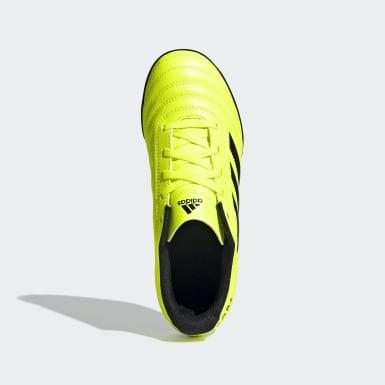 Zapatos de Fútbol Copa 19.4 Césped Artificial Amarillo Niño Fútbol