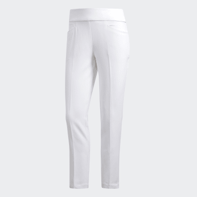 Women Golf White Ultimate365 Adistar Cropped Trousers
