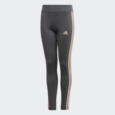Youth Training Grey Training Equipment 3-Stripes Tights