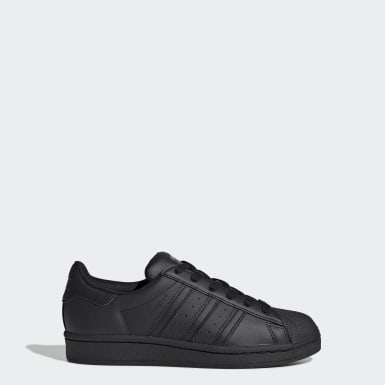 Youth 8-16 Years Originals Black Superstar Shoes