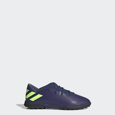 Boys Football Blue Nemeziz Messi 19.3 Turf Boots