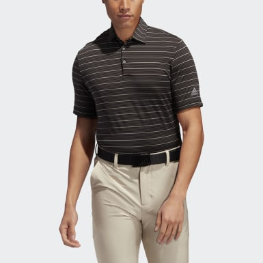 Men's Golf Black Ultimate365 Pencil Stripe Polo Shirt