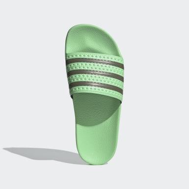 Ženy Originals zelená Pantofle adilette