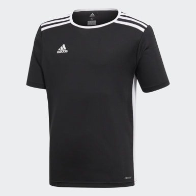 Youth Soccer Black Entrada Jersey