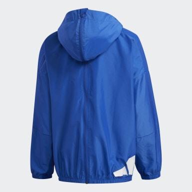 เด็ก เทรนนิง สีน้ำเงิน เสื้อแจ็คเก็ตน้ำหนักเบา