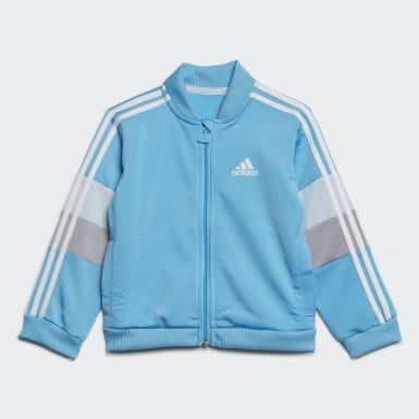 Kids Training Turquoise Shiny Tracksuit