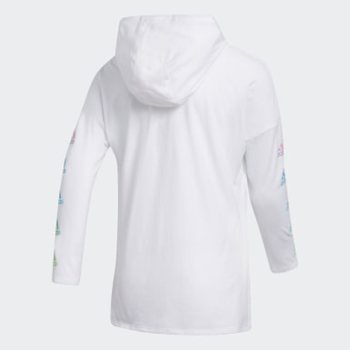 Youth Training White Hooded Tee