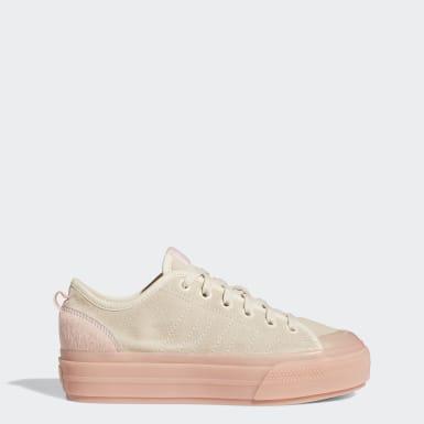 Women's Originals Beige Nizza RF Platform Shoes