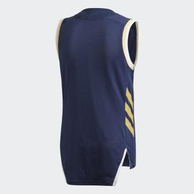 Mænd Basketball Blå Real Madrid Game trøje