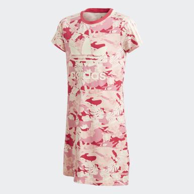 Girls Originals Beige Adicolor kjole