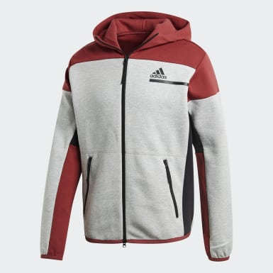 Men's Athletics Grey adidas Z.N.E. Full-Zip Hoodie