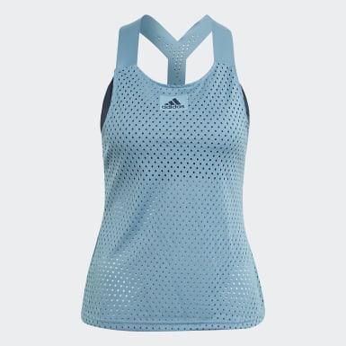 Frauen Tennis HEAT.RDY Primeblue Tennis Y-Tanktop Blau