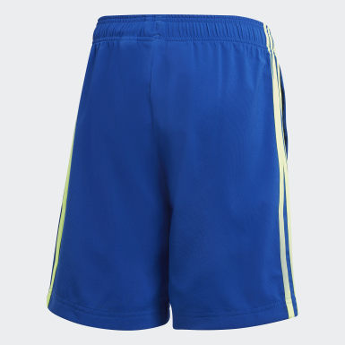 Boys Lifestyle Blue Essentials 3-Stripes Woven Shorts