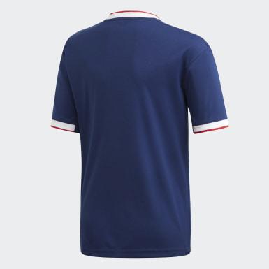 Maillot Olympique Lyonnais Extérieur Bleu Garçons Football