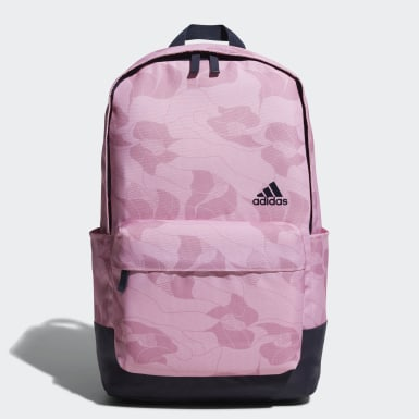 Women Training Pink Classic Allover Print Backpack