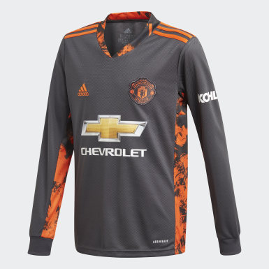 Kinder Fußball Manchester United 20/21 Torwart-Heimtrikot Grau