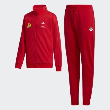 Boys Sport Inspired Red Pokémon Track Suit