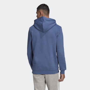 Sweat-shirt à capuche Trefoil Bleu Hommes Originals