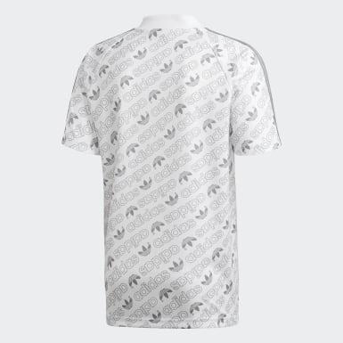 Camisa em Monograma Branco Homem Originals