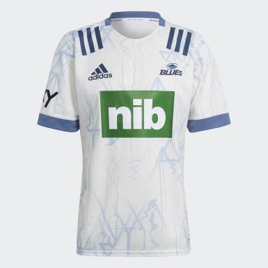 Men Rugby White Blues Rugby Primeblue Alternate Replica Jersey