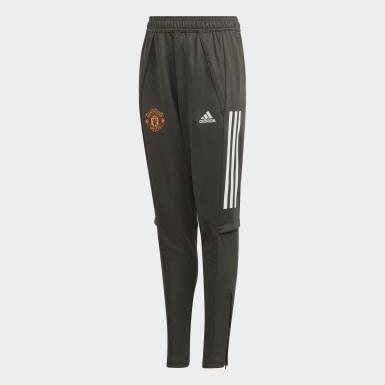 Děti Fotbal zelená Tréninkové kalhoty Manchester United