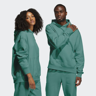 Hoodie Pharrell Williams Basics (Non genré) Vert Originals